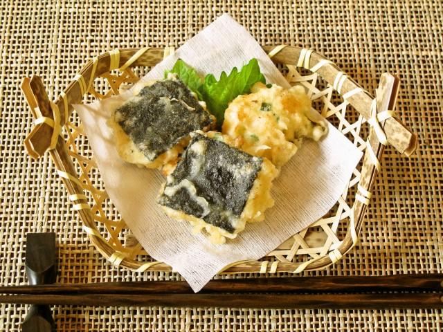 海老と味海苔の揚げ物