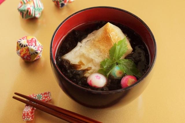 黒ばら海苔のお雑煮