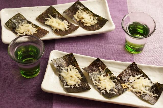 海苔のパリパリしらすチーズ